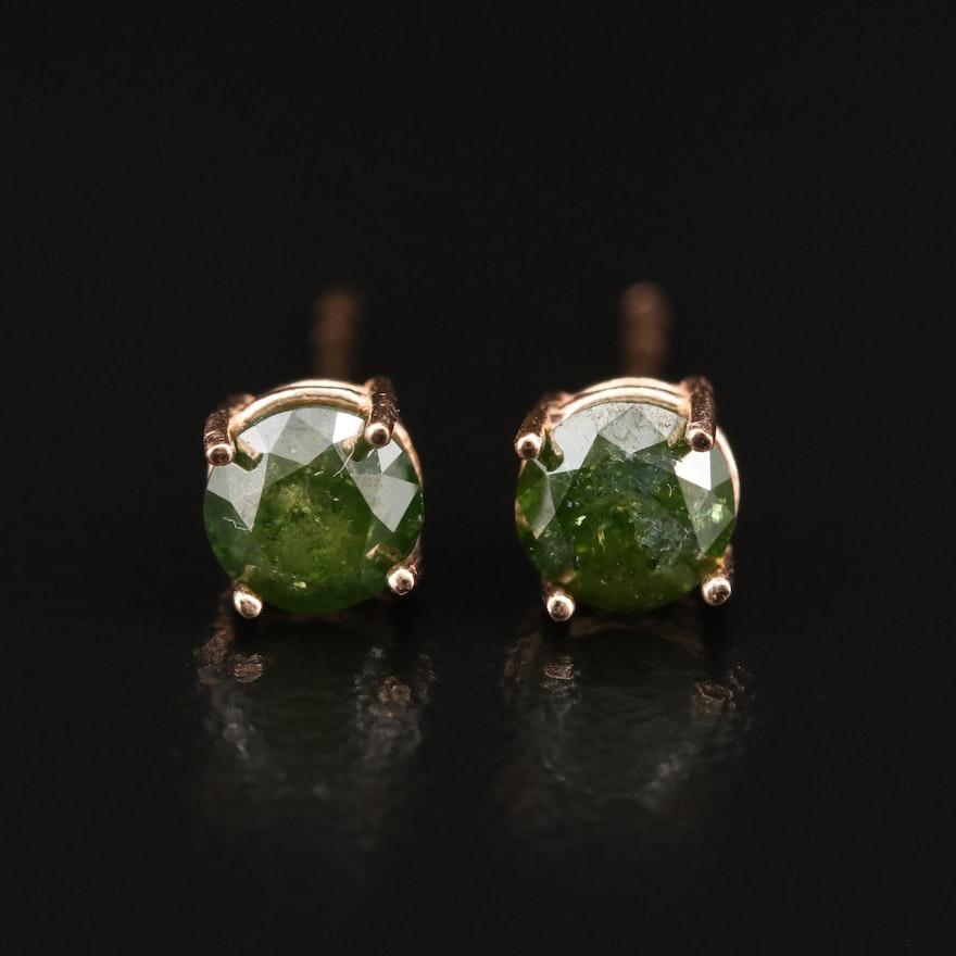 14K 0.82 CTW Diamond Stud Earrings