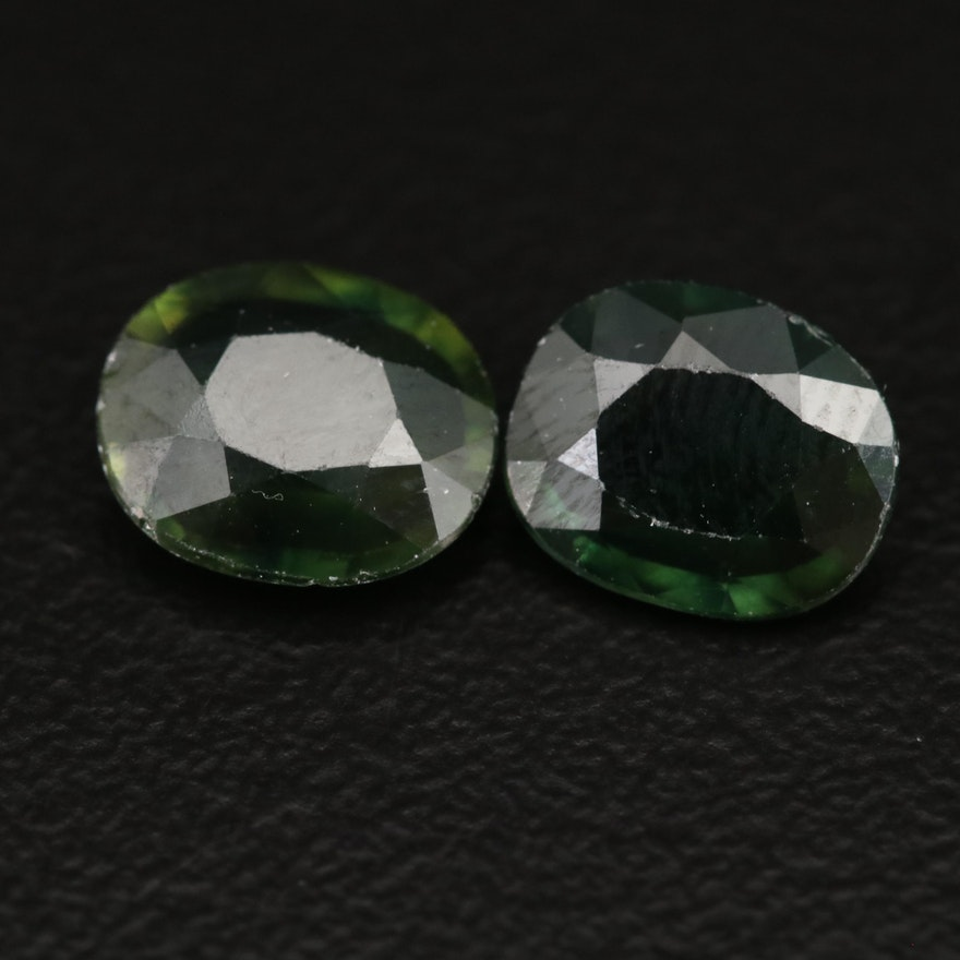 Loose 2.71 CTW Oval Faceted Sapphires