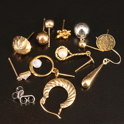 Mixed Lot of 10K and 14K Gold Scrap Jewelry