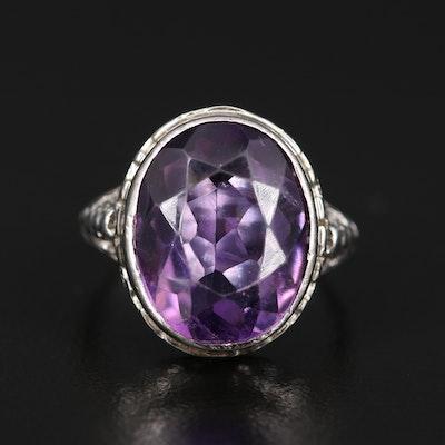 Art Deco Ostby & Barton 10K Amethyst Ring