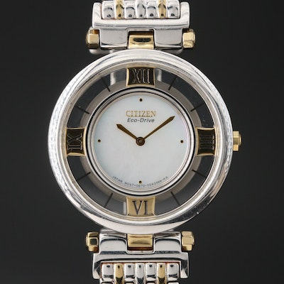 Citizen Eco-Drive Stiletto Two-Tone Quartz Wristwatch