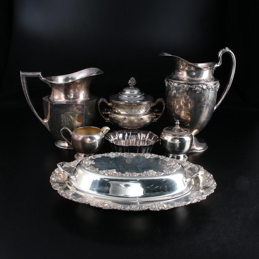 Homan Mfg. Co. Silver Plate Spooner and Other Silver Plate Tableware