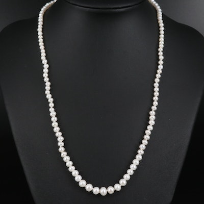 14K Graduated Pearl Necklace