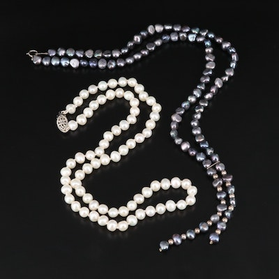 Sterling Silver Pearl Necklaces
