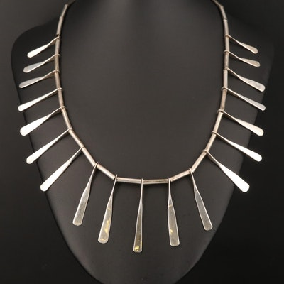 Sterling Graduated Fringe Necklace
