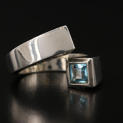 Gucci Sterling Topaz BypassRing