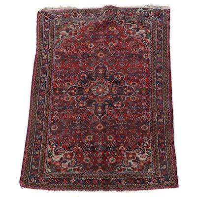 3'6 x 5'1 Hand-Knotted Persian Hamadan Wool Area Rug