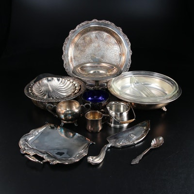 Forbes Silver Co. Silver Plate Silent Butler and Other Tableware