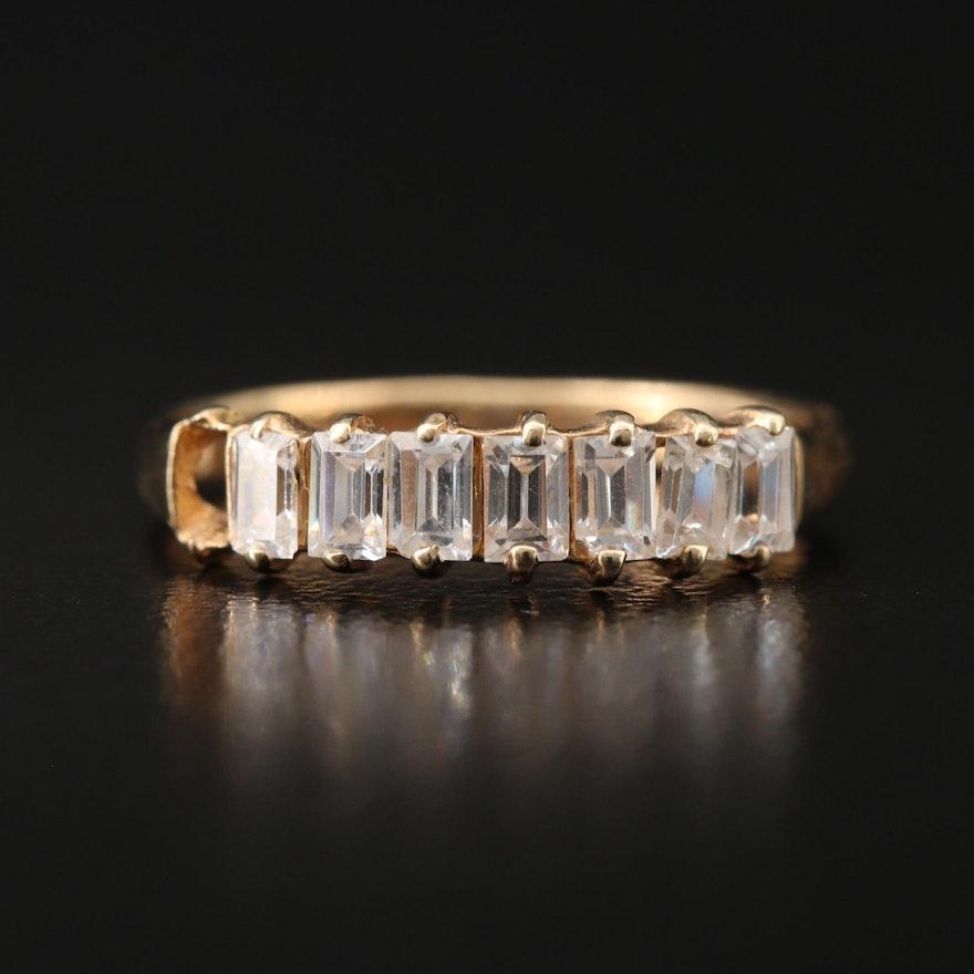 10K Cubic Zirconia Ring