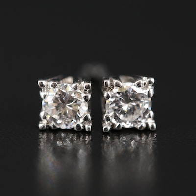 10K 0.46 CTW Diamond Stud Earrings