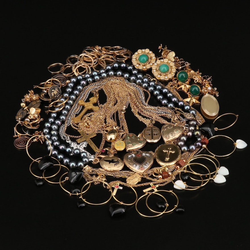 Gold Filled Necklaces, Earrings, Tie Clips, Lockets and More
