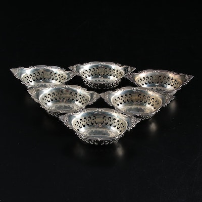 "Gorham ""Cromwell"" Pierced Sterling Silver Nut Bowls"