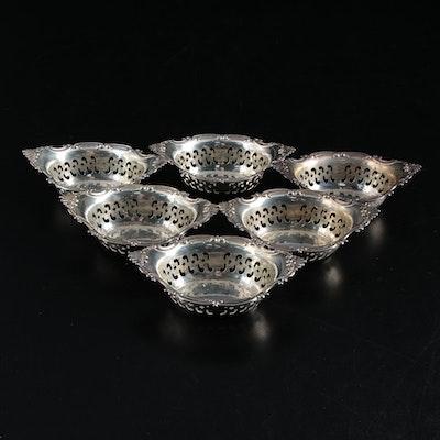 "Gorham ""Cromwell"" Pierced Sterling Silver Nut Bowls"
