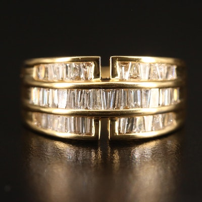 18K Channel Set 2.02 CTW Diamond Multi-Row Band