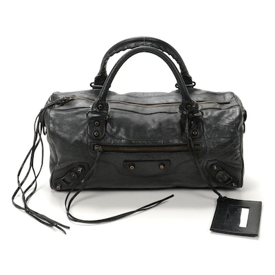 Balenciaga City Leather Satchel Bag