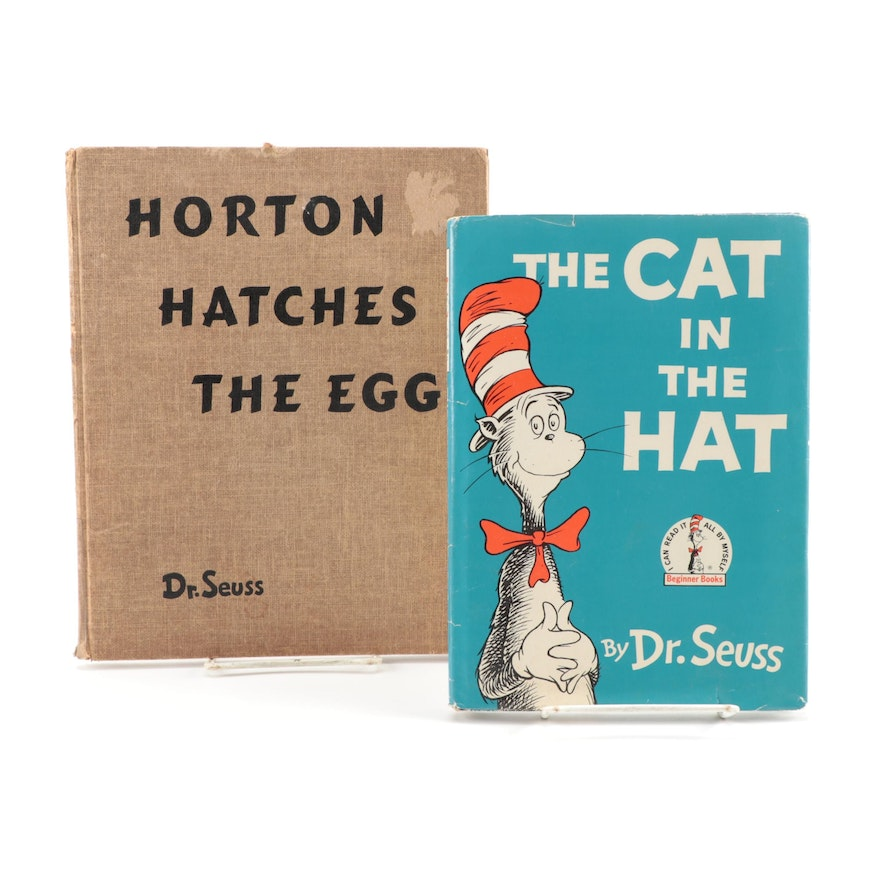 """The Cat in the Hat"" and ""Horton Hatches the Egg"" First Editions"