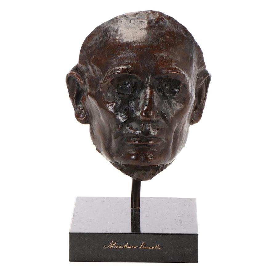Abraham Lincoln Bronze Life Mask after Leonard Wells Volk