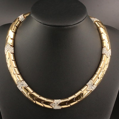 Vintage Ciner Collar with Pavé Glass Accents