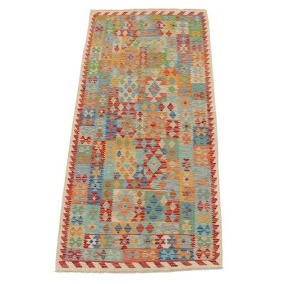 3'3 x 6'9 Handwoven Afghan Village Kilim Area Rug