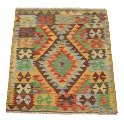 3'2 x 3'4 Handwoven Afghan Turkish Kilim Accent Rug