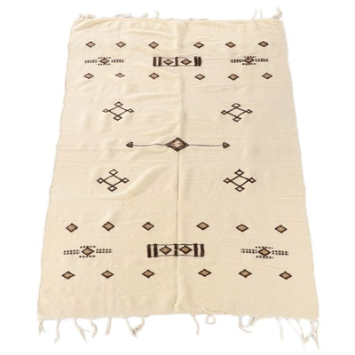 Handwoven Moroccan Style Wool Throw Blanket