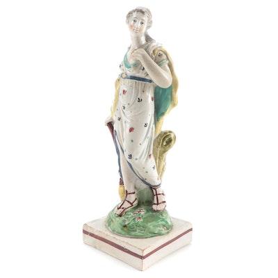 Wedgwood Polychrome Pearlware Figurine, Late 18th/Early 19th Century