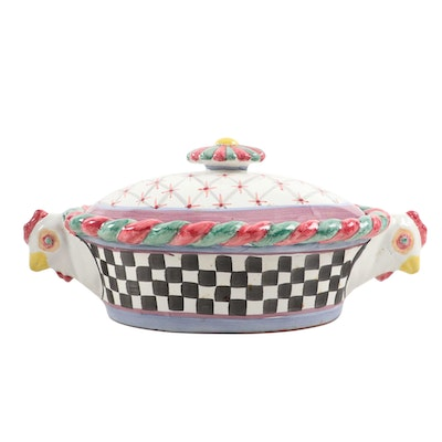 "MacKenzie-Childs ""Piccadilly"" Covered Casserole Dish"