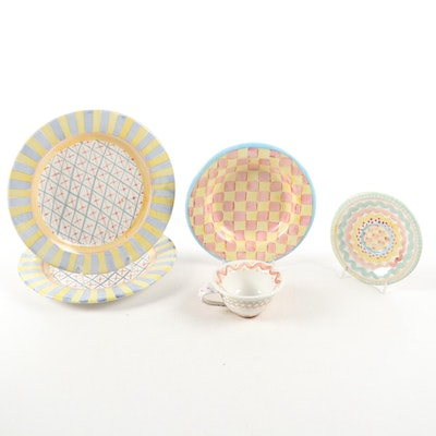 "MacKenzie-Childs ""Monet"", ""Aurora"" and Other Dinnerware"