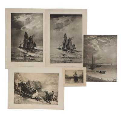 Nautical Lithographs and Etchings, Early-Mid 20th Century