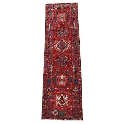 2'9 x 9'9 Hand-Knotted Persian karaja Wool Carpet Runner