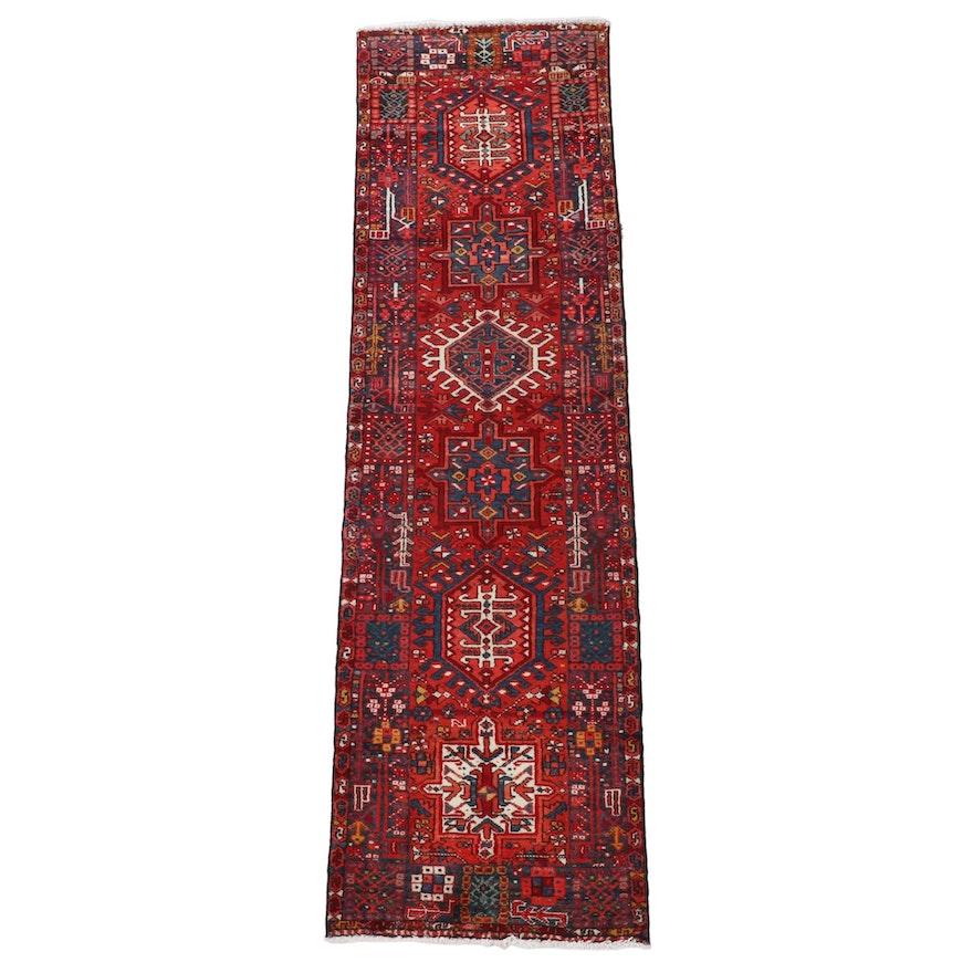 2'9 x 9'9 Hand-Knotted Persian karaja Wool Carpet Runner