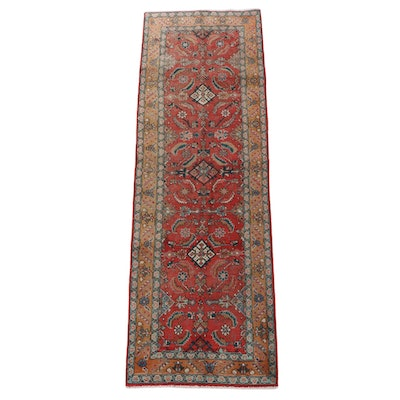 3'4 x 10'9 Hand-Knotted Persian Hamadan Wool Long Rug