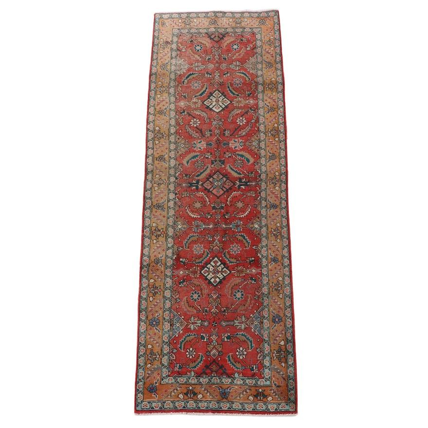 3'4 x 10'9 Hand-Knotted Persian Hamadan Wool Long Rug