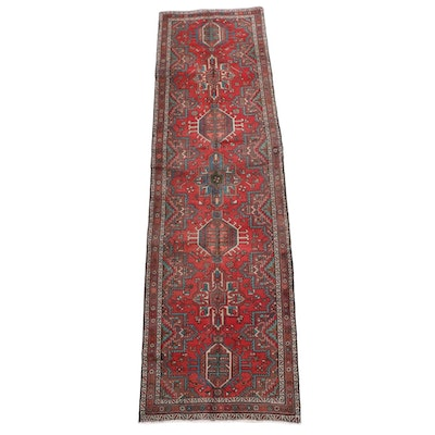3'6 x 12'6 Hand-Knotted Persian Karaja Wool Long Rug