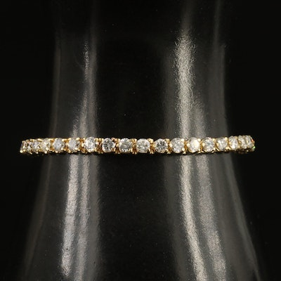 14K 7.02 CTW Diamond Tennis Bracelet