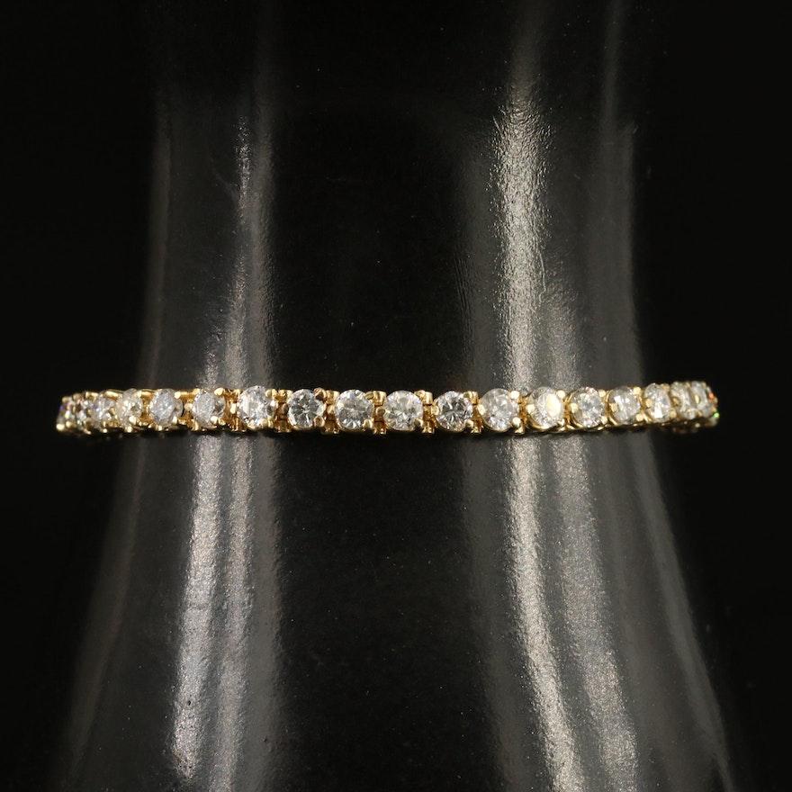 14K 7.02 CTW Diamond Tennis Bracelet