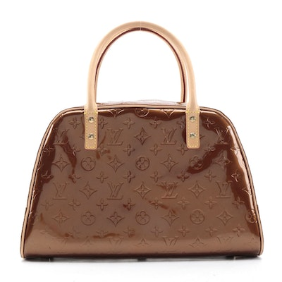 Louis Vuitton Tompkins Square Satchel in Bronze Monogram Vernis
