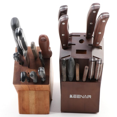 Keenair, Tramontina and other Knives with Knife Blocks