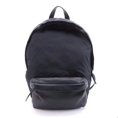 Givenchy Studded Black Nylon and Leather Backpack