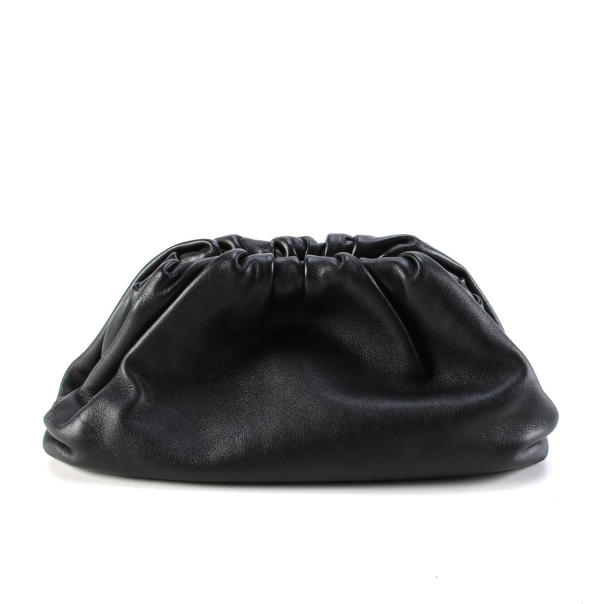 Bottega Veneta The Pouch 20 in Black Butter Calf Leather