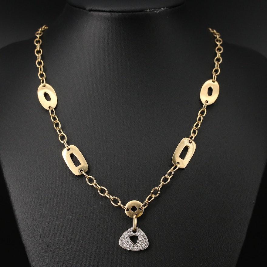 Mattioli 18K Two-Tone Diamond Puzzle Collection Pendant Necklace