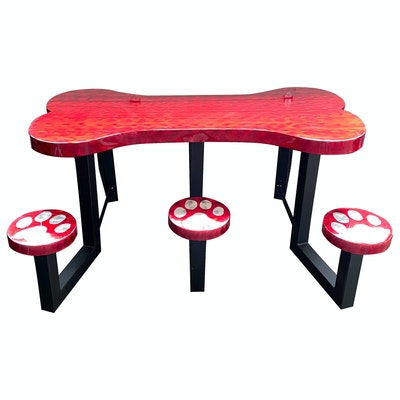 Ofab Dog Bone-Form Picnic Table with Six Seats