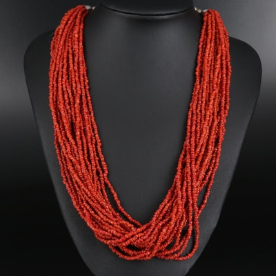 Coral Multi-Strand Necklace