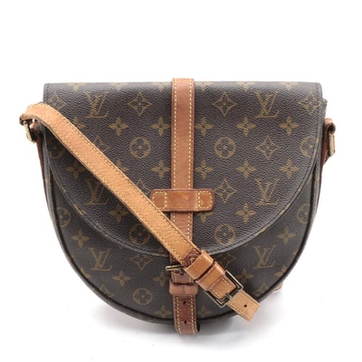 Louis Vuitton Chantilly GM Crossbody Bag in Monogram Canvas and Vachetta Leather