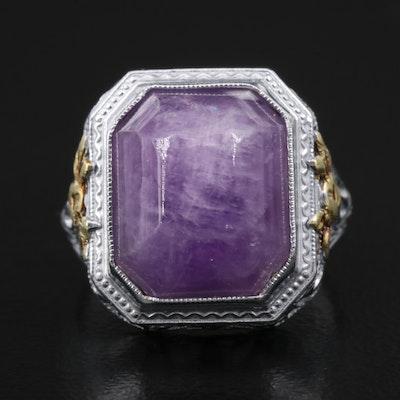 Vintage Amethyst Filigree Ring