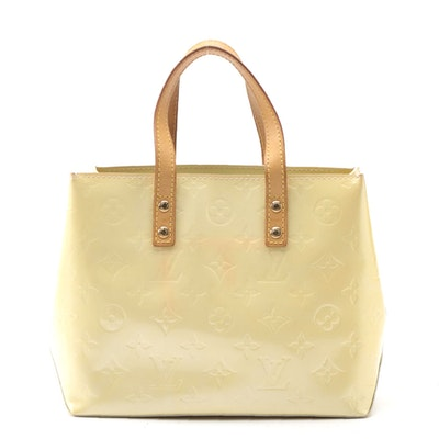 Louis Vuitton Reade PM in Perle Monogram Vernis and Vachetta Leather