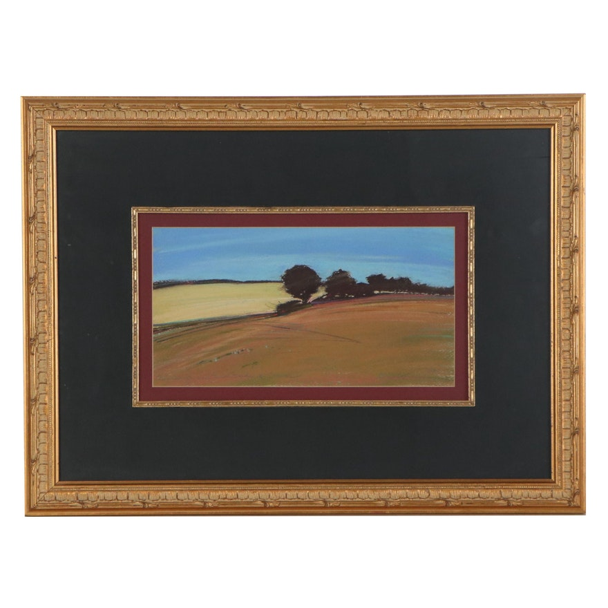 "C. Gay Petach Pastel Drawing ""Sunlight and the Fields of Summer,"" 1984"