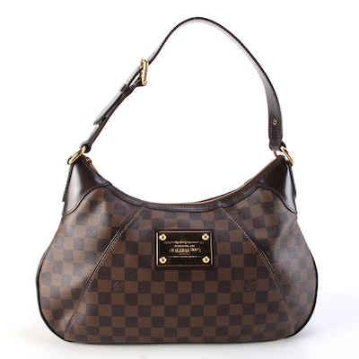 Louis Vuitton Damier Ebene Canvas Thames GM Shoulder Bag