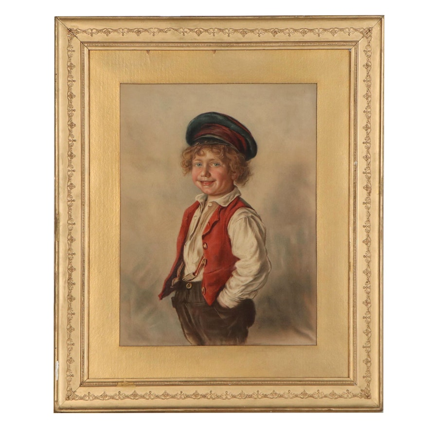 Frank Tuchfarber Co. Lithograph of Young Boy, 1888