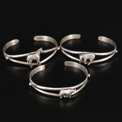 Sterling Safari Animal Cuffs